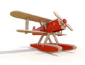 Toy plane wooden on a white background Royalty Free Stock Photo