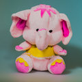 Toy plush elephant a lovely Royalty Free Stock Photography