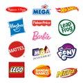 Toy producers company logos