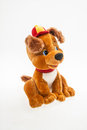Toy puppy teddy in the cap Stock Photography