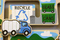 Toy recycling puzzle Royalty Free Stock Photo