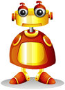 A toy robot illustration of on white background Royalty Free Stock Photos