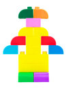 Toy robot made from plastic colorful blocks Royalty Free Stock Images