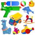 Toy set vector Stock Photo