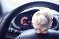 Toy Sheep In Car