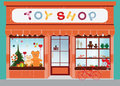 Toy shop window display.