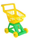 Toy shopping trolley Lizenzfreie Stockbilder