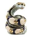Toy snake on white over background Stock Image