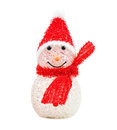 Toy snowman Stock Images