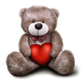 Toy Soft Teddy Bear With Valen...