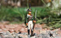 Toy soldier among the rocks Royalty Free Stock Photo