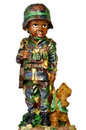 Toy soldier on white background Royalty Free Stock Image