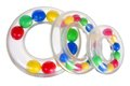 Toy stacking rings on white background Royalty Free Stock Images