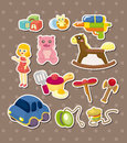 Toy stickers Stock Images