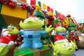 Toy Story Christmas decorations in Hong Kong Stock Photo