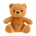 Toy teddy bear isolated on white, cutout Royalty Free Stock Photo