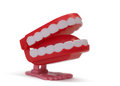 Toy teeth Stock Images