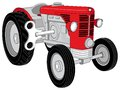 Toy tractor vector designed red Royalty Free Stock Image