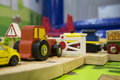 Toy traffic train playground children child play concept Royalty Free Stock Photo