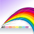 Toy Train - Abstract Rainbow Pencil Series Royalty Free Stock Photo