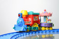 Toy train clown circus animals Royalty Free Stock Images