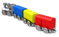 The toy train d generated picture of a colorful Stock Images