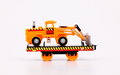Toy train machines carrier on white background Stock Photos