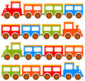Toy trains Stock Images