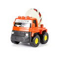 A toy truck concrete mixer on white background Royalty Free Stock Images