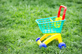 Toy truck  on the grass Royalty Free Stock Photo