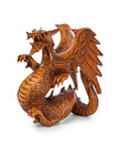 Toy wood dragon Royalty Free Stock Photo
