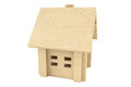Toy wooden house Stock Photography
