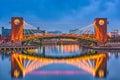 Toyama Japan Park and Bridge Royalty Free Stock Photo