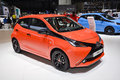Toyota aygo at the geneva motor show on display during switzerland march Stock Photography
