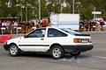 Toyota Corolla ae86 during Leiria City Slalom 2012 Stock Image