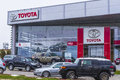 Toyota showroom in cluj napoca romania Royalty Free Stock Image