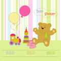 Toys for baby and background Royalty Free Stock Photos