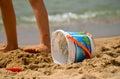 Toys on the beach Royalty Free Stock Photo