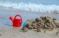 Toys on the beach a sunny day Stock Photography