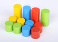 Toys blocks, multicolor wooden building bricks,
