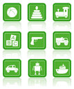 Toys boys set vector icons Stock Photo