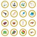 Toys cartoon icon circle