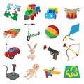 Toys cartoon icons set Royalty Free Stock Photo