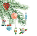 Toys on christmas tree vector this is file of eps format Royalty Free Stock Photography