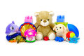 Toys collection isolated on white background Royalty Free Stock Photos
