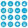 Toys icon blue