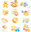Toys icon set Royalty Free Stock Images