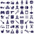 Toys icons on white Royalty Free Stock Photo