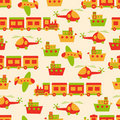 Toys pattern seamless Royalty Free Stock Photo