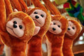 Toys on sale stuffed monkey animals Royalty Free Stock Images